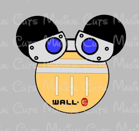 Wall-E Mouse Ears SVG, Studio, EPS, and JPEG Digital Downloads ...