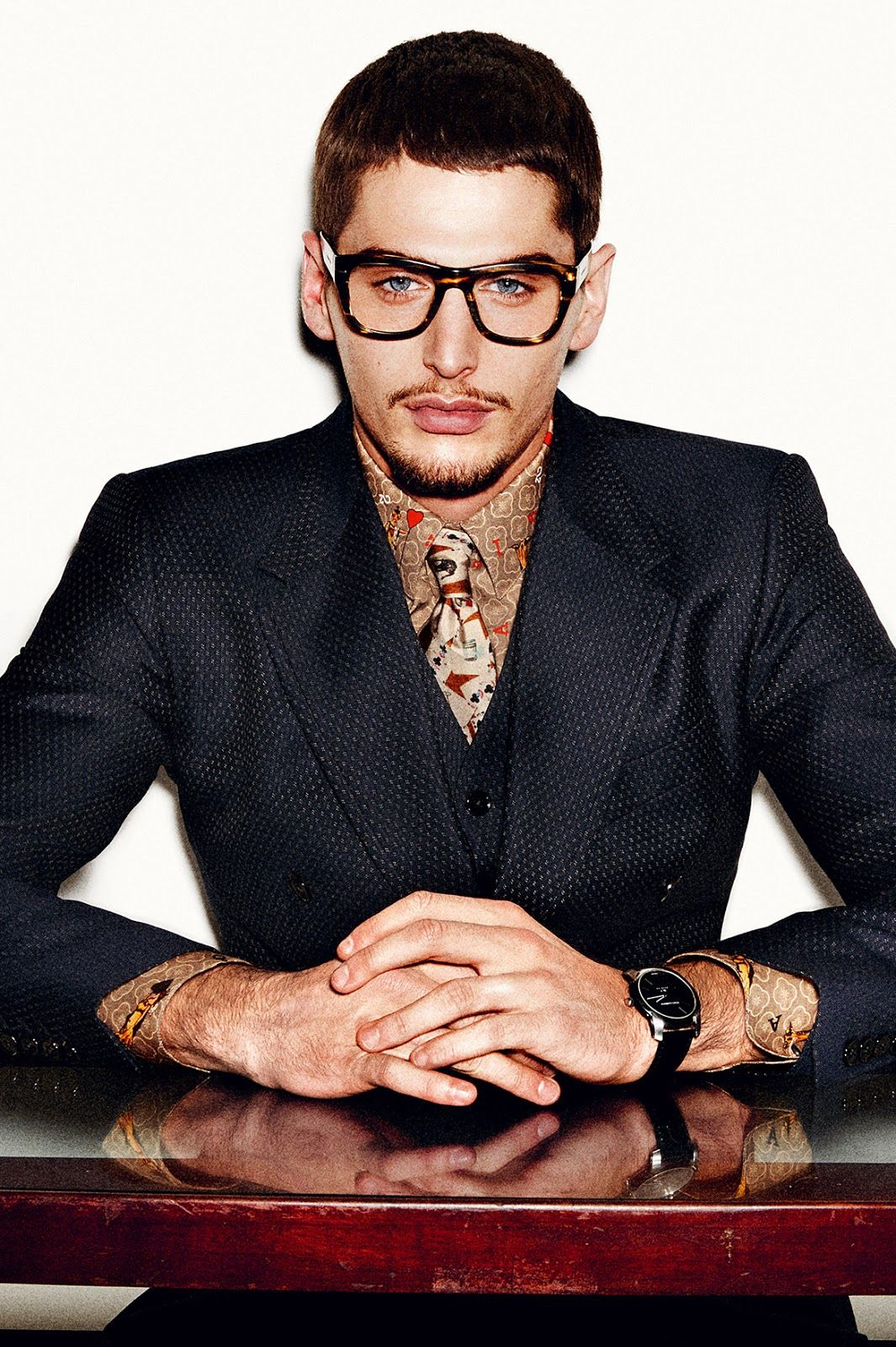 Haircuts for men with glasses dolceugabbana fallwinter  lookbook  homotography  style
