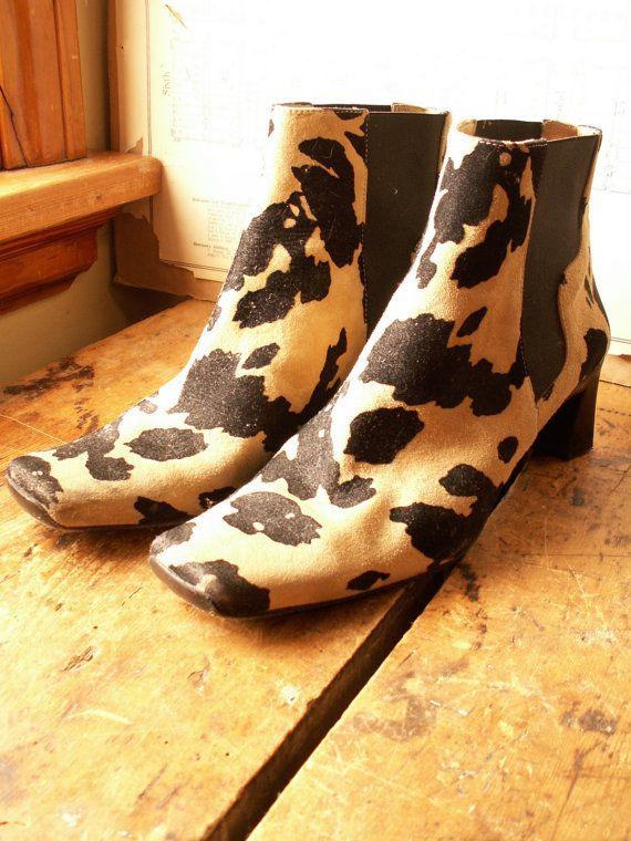 Vintage Via Spiga Animal Print Boots