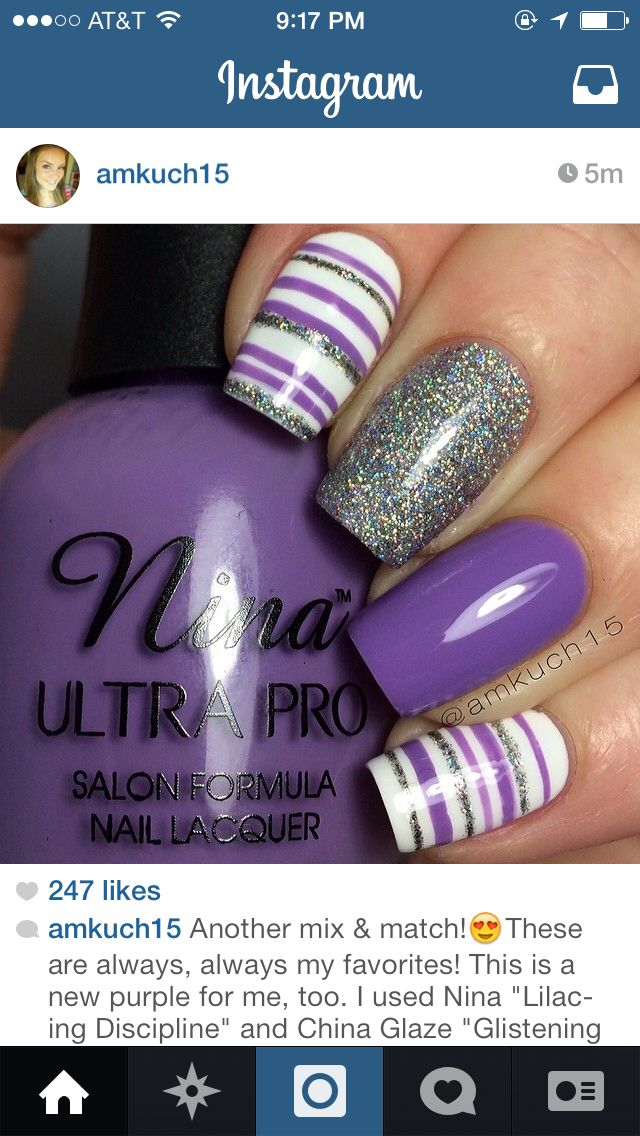 Purple nail options   Passionate Purple   Pinterest   Purple nail ...