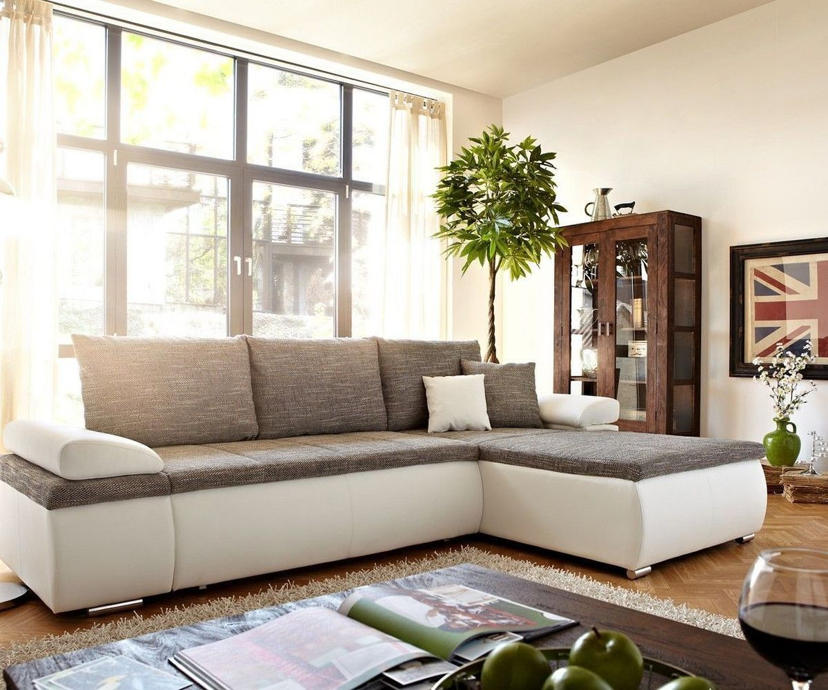 ecksofa cariba 275x180 cm weiss grau ottomane variabel corner sofa living room sofa sofa