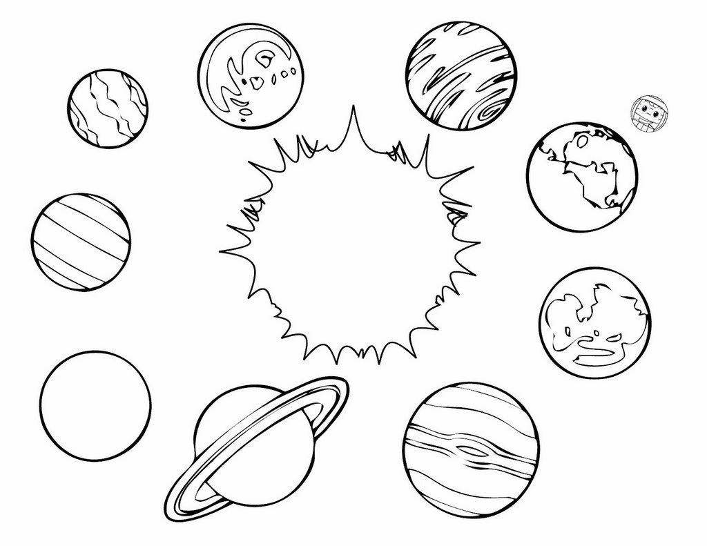 Planets Coloring Pages Solar System Sheets