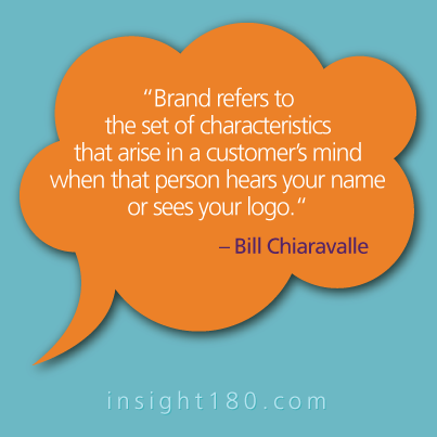 Brand Refers To The Set Of Characteristics That Arise In A Customer S Mind When That Person Hears Your Name Or Marketing Quotes Quality Quotes Business Quotes