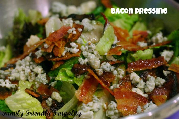 Recipe for Bacon Dressing with Honey and Red Wine Vinegar