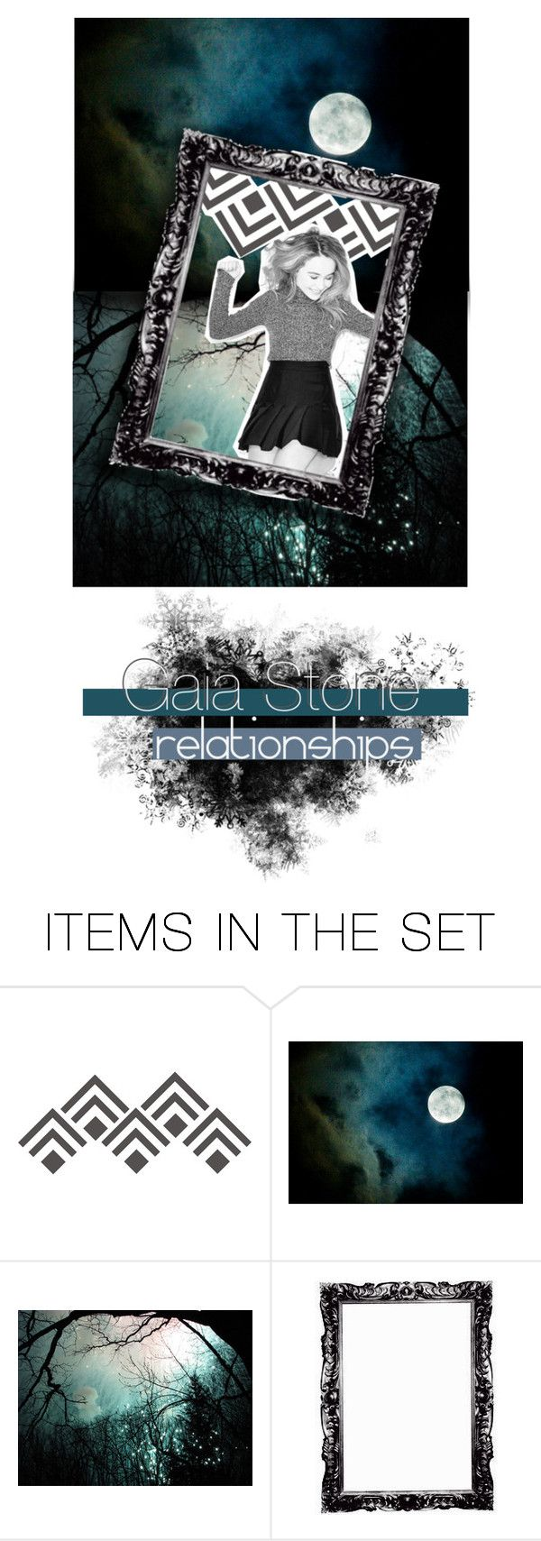 """gaia stone's relationships part 2 - in need of enemies!"" by clementineblue ❤ liked on Polyvore featuring art"