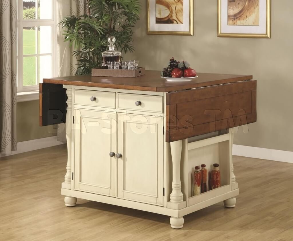 Small White Kitchen Island Table With Folding Table Top: How to ...