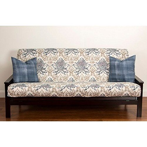 single piece vibrant blue queen size futon cover form fitting style printed design single piece vibrant blue queen size futon cover form fitting      rh   pinterest