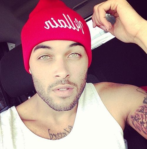 Gorgeous eyes... and guys in beanies should Happen a lot more