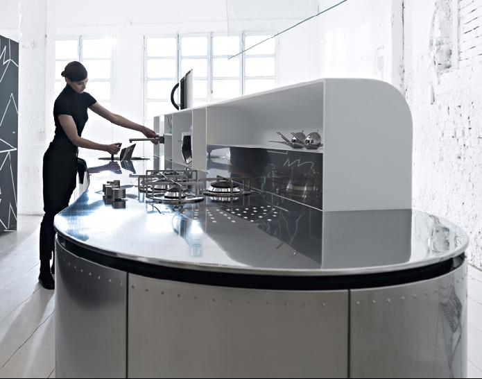 Curvalinear Collaborative Kitchens by 3 design companies - La Cucina ...