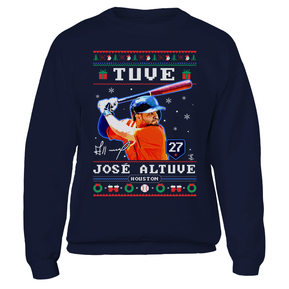 new concept f2998 327cb Jose Altuve - Tuve - CHRISTMAS PLAYER | Licensed T-shirts ...