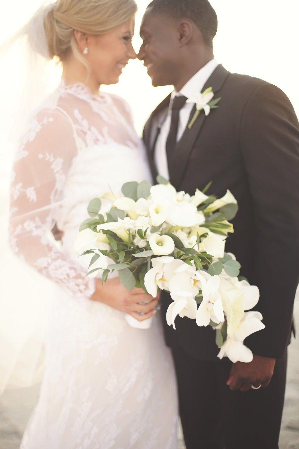 Bride u groom wedding photo wedding dress with sleeves lace