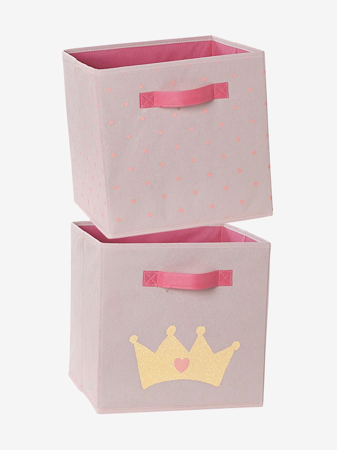 Vlies-Aufbewahrungsboxen im 2er-Set von Vertbaudet in rosa - Nur € 2 ...