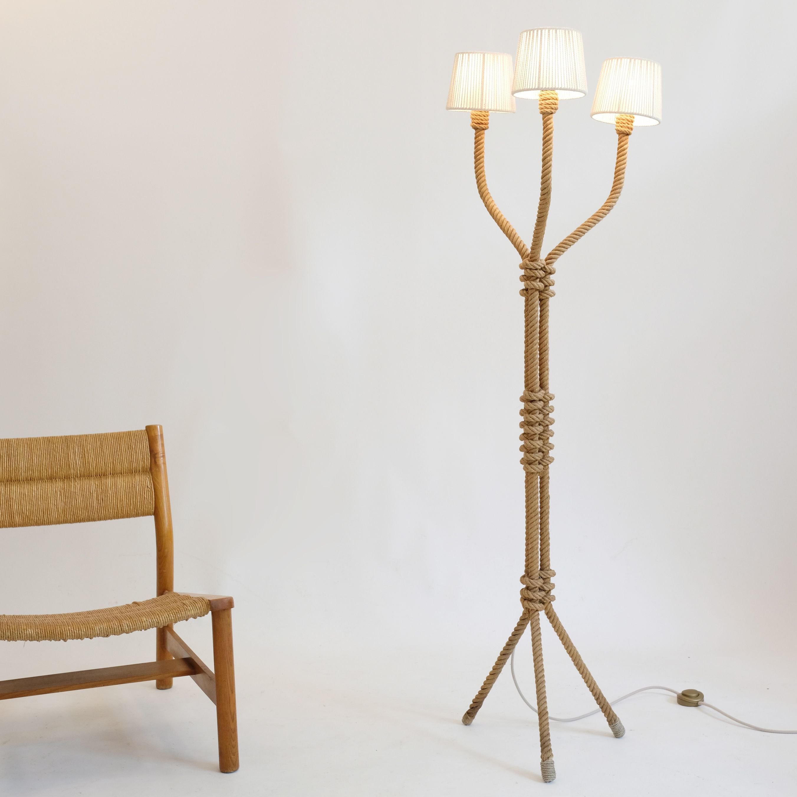 French Rope Floor Lamp From The 1940s 1950s Lampandco French Floor Lamp Floor Lamp Lamp