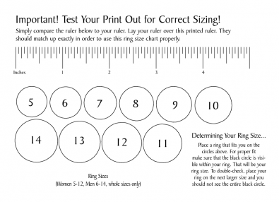 Ring Sizer For Online Shopping Printable Ring Size Chart Printable Ring Sizer Ring Sizes Chart