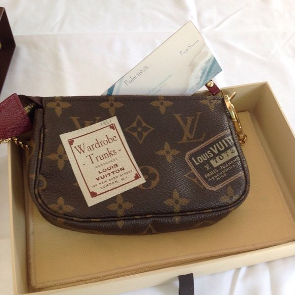 4910515f9b97 Limited Edition Louis Vuitton Mini Pochette EUC authentic Louis Vuitton  Mini Pochette. Comes with dust bag and box. More pics available upon  request.