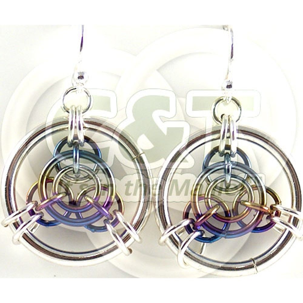 Axis of Awesome earring kit. Silver fill and niobium.