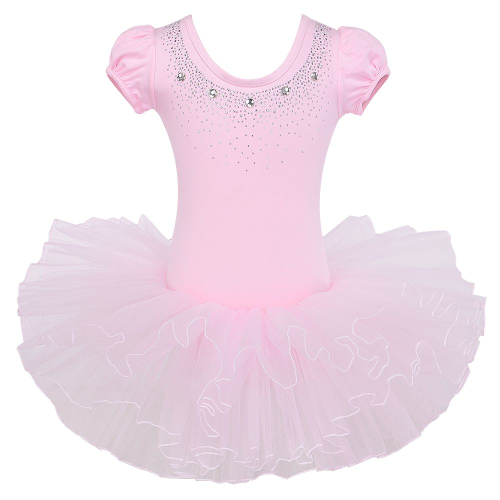 82bd02ca2 Click to Buy << Black Pink Polka Dots Flower Girls Leotard Ballet Tutu  Skate Dance Birthday Party Skirt Dress for 3-8Y China #Affiliate