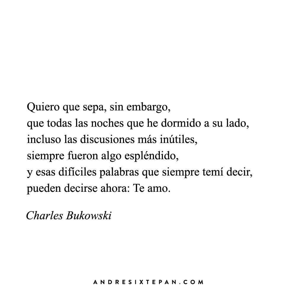 Poemas De Charles Bukowski Sobre El Amor Charles Bukowski Frases De Amor Para Dedicar Frases De Libros
