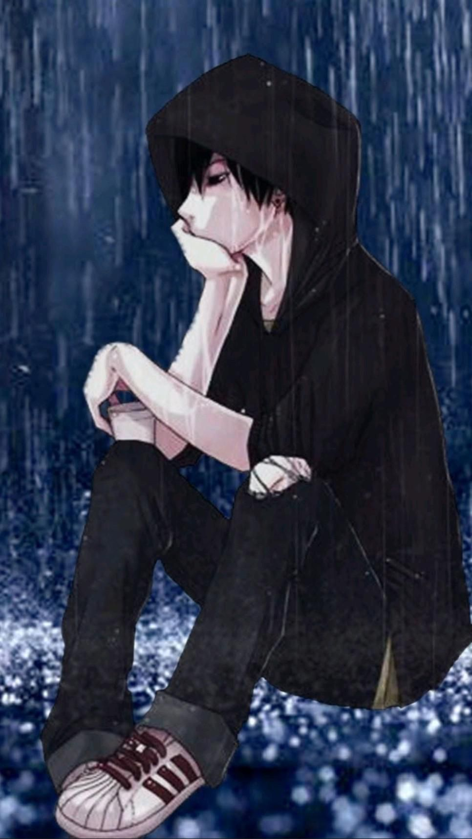 Lonely anime boy hd wallpaper for