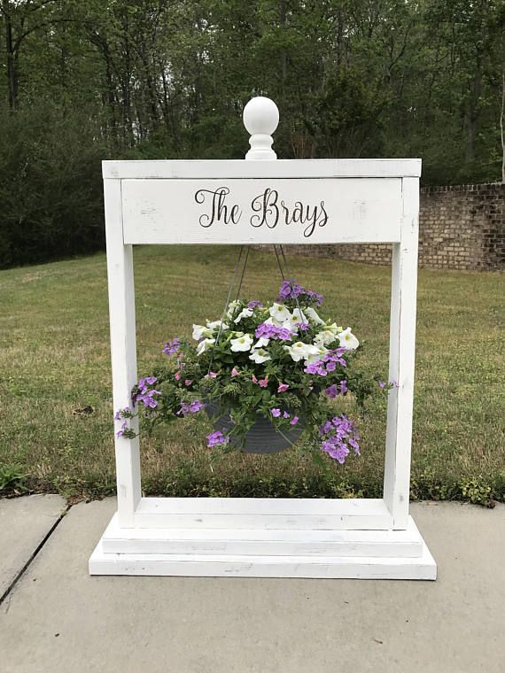 Wooden Plant Stand Hanging Basket