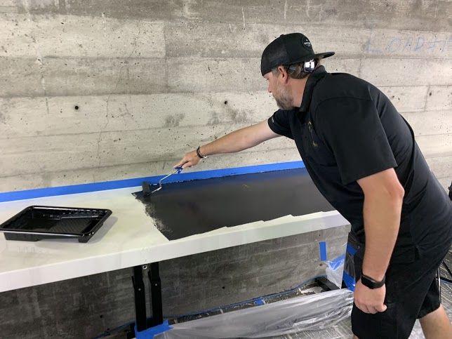 Kit #5 in 2020   Epoxy countertop, White spray paint ...