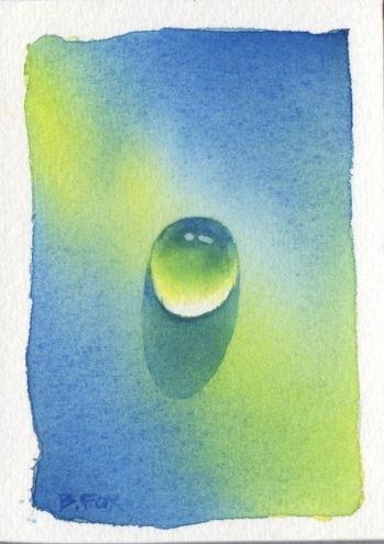 DROP #6 watercolor painting, painting by artist Barbara Fox