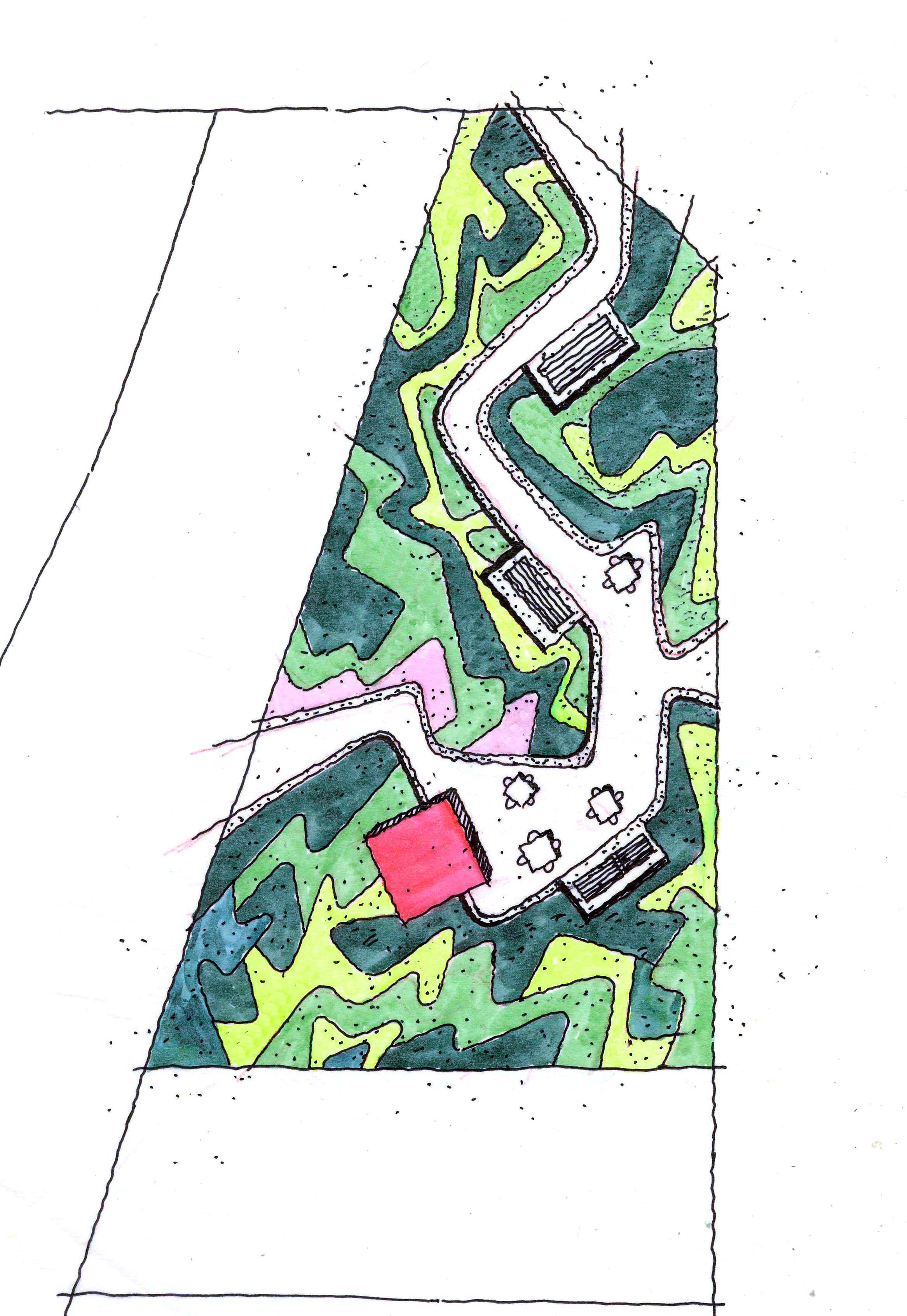 Small Park Master Plan Campus Landscape Design Landscape And Urbanism Parking Design