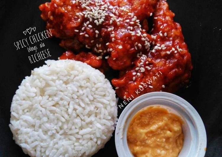 Resep Spicy Chicken Wings Ala Richeese Oleh Neni Kuswati Resep Resep Sayap Ayam Resep Makanan