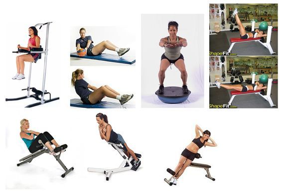 My new ab workout: 1. Leg raise in captains chair 2. side ...