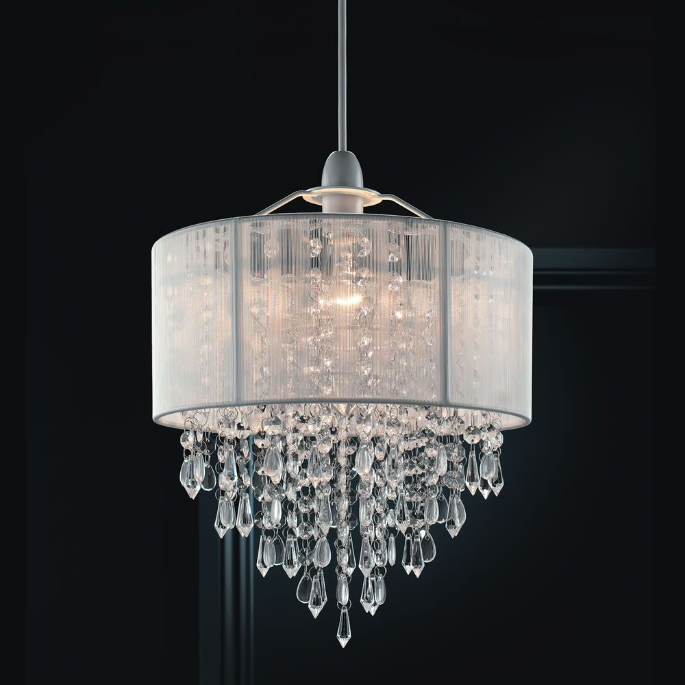 35 X 30cm White Ritz Pendant Light Shade