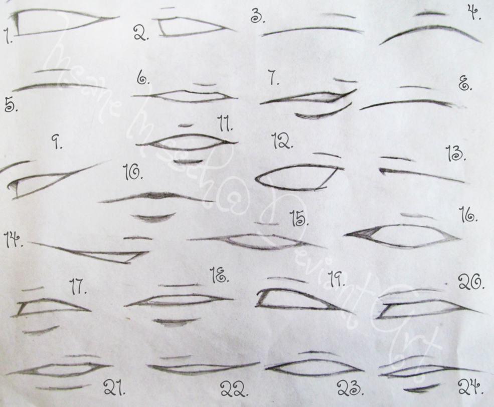 Here is a fantastic anime & manga mouths & lips drawing