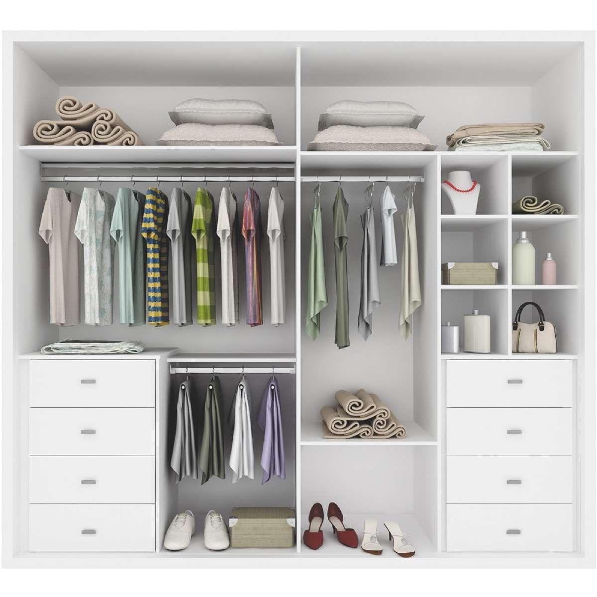 Distribuci n de armarios c mo organizar la ropa para for Armario de madera conforama
