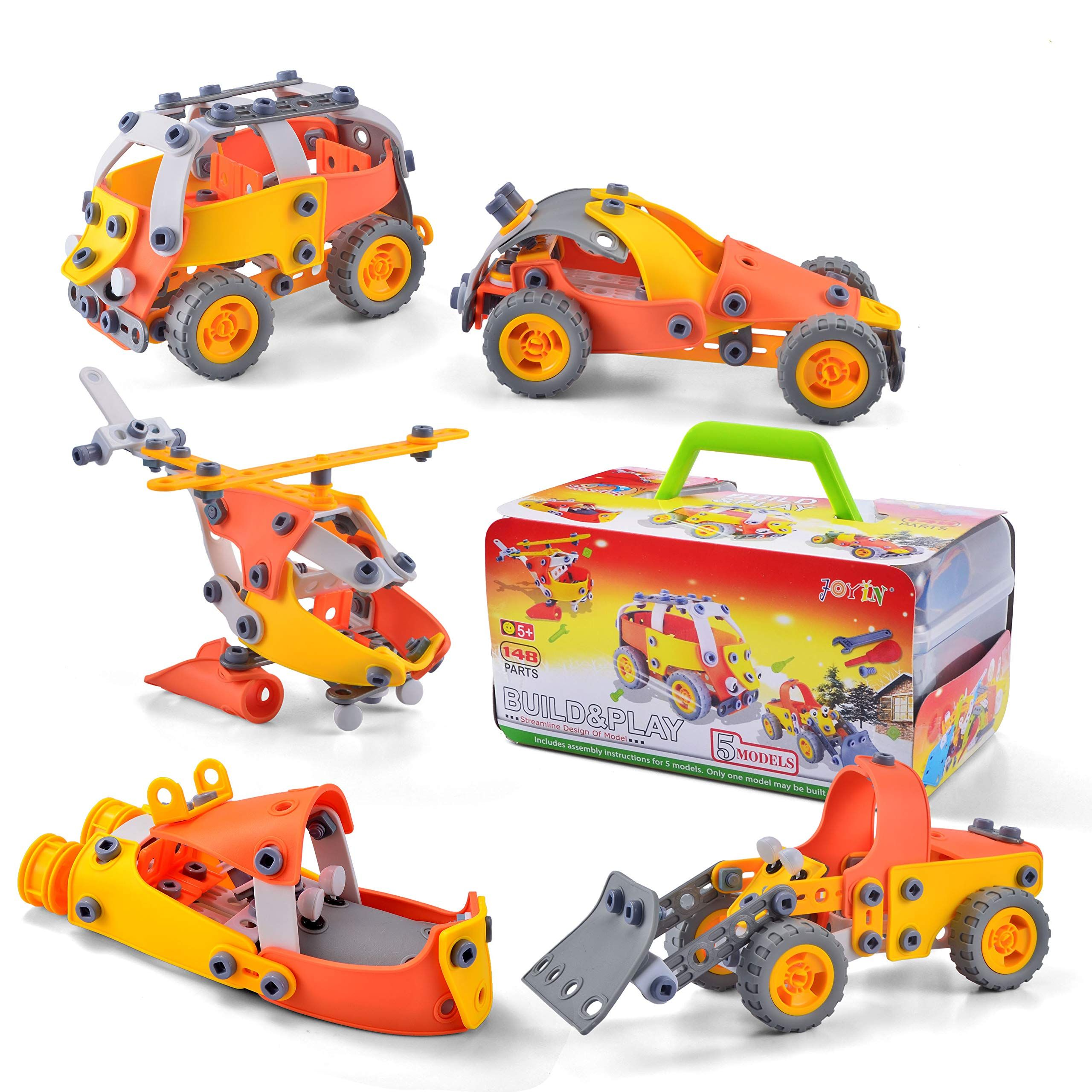 JOYIN 148 Pcs STEM Building Block Toys, Take-a-Part Play ...
