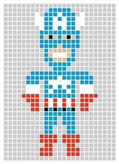 Captain America Avengers. For pixelated granny square blanketx