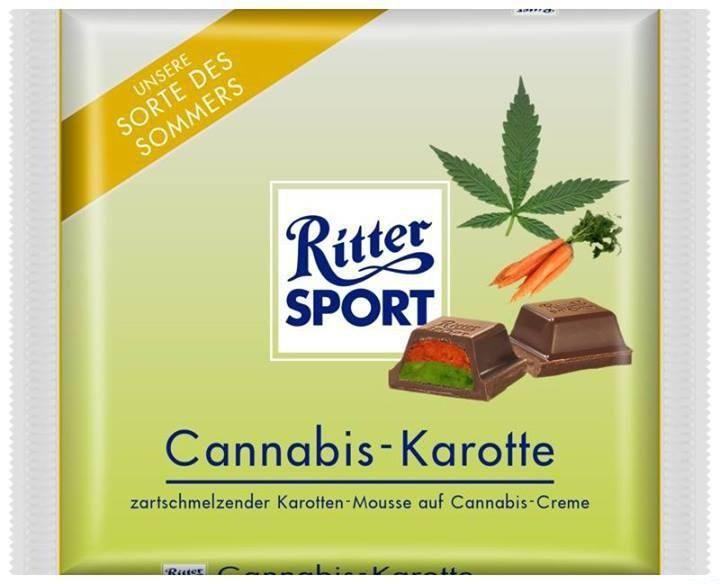 ritter sport cannabis karotte fundst ck ostern. Black Bedroom Furniture Sets. Home Design Ideas