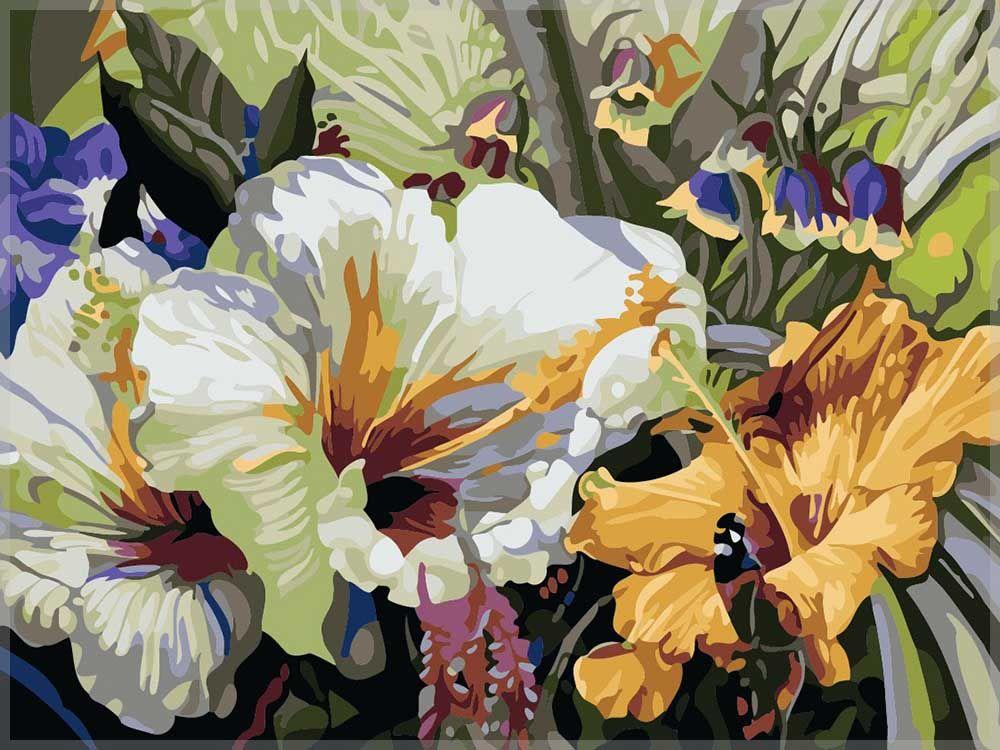 Картина по номерам «Цветок с метельком»   Краска, Картины ...