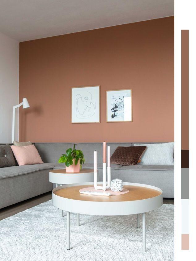 Kleurencombinatie Aardetinten Interieur Woonkamer Koffietafel Huis Interieur
