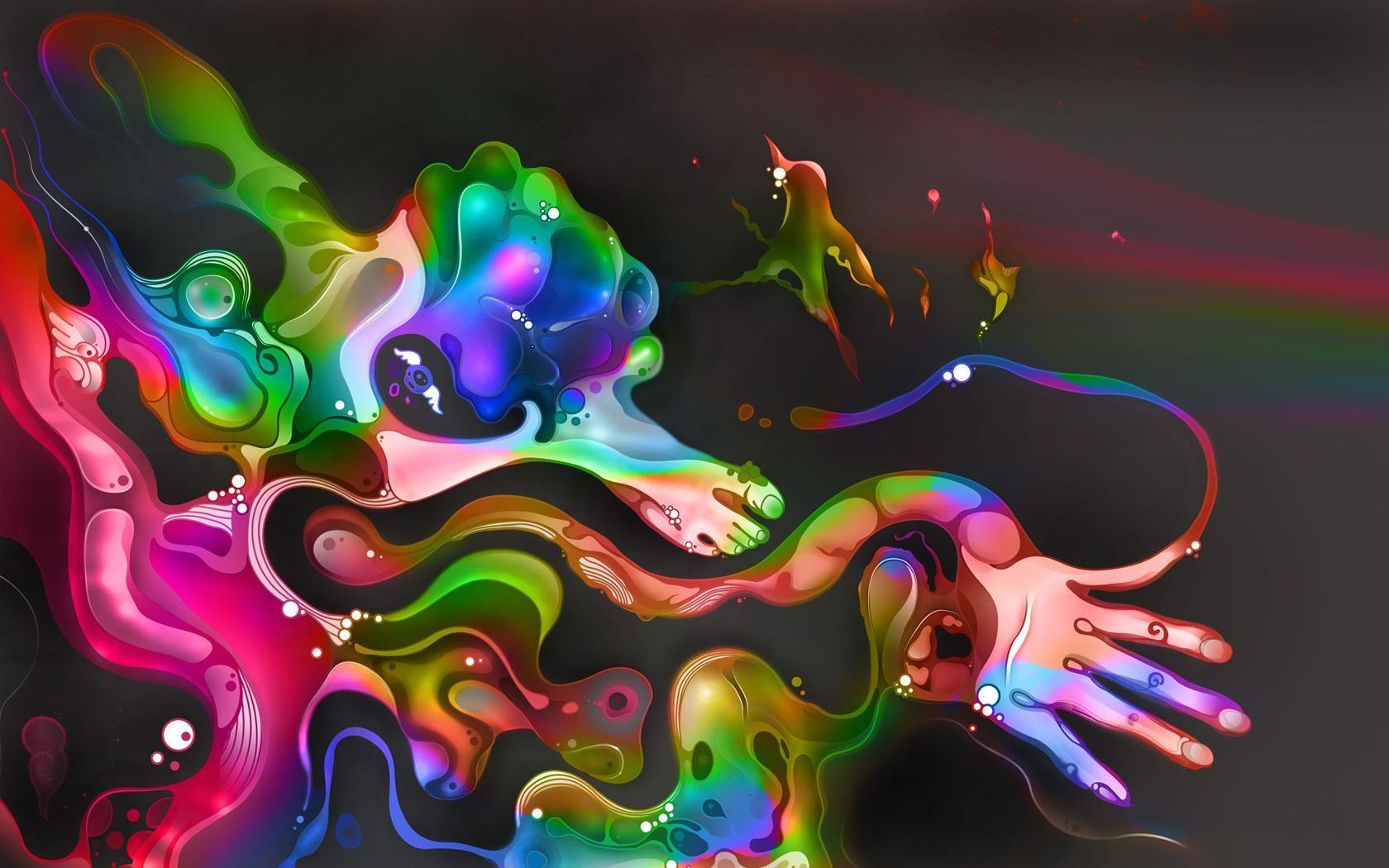 Fonds D Ecran Pour Tablette Tactile Fond D Ecran Abstrait Papier Peint D Art Dessin De Paysage Fantastique