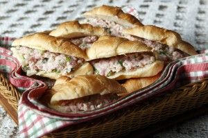 Country ham salad-thin layer on toast or crackers can work well for some of our little ones