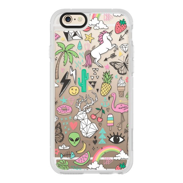 Summer Time Doodle - iPhone 6s Case,iPhone 6 Case,iPhone 6s Plus... (€36) ❤ liked on Polyvore featuring accessories, tech accessories, iphone case, clear iphone cases, apple iphone cases, iphone cover case, iphone hard case and iphone cases