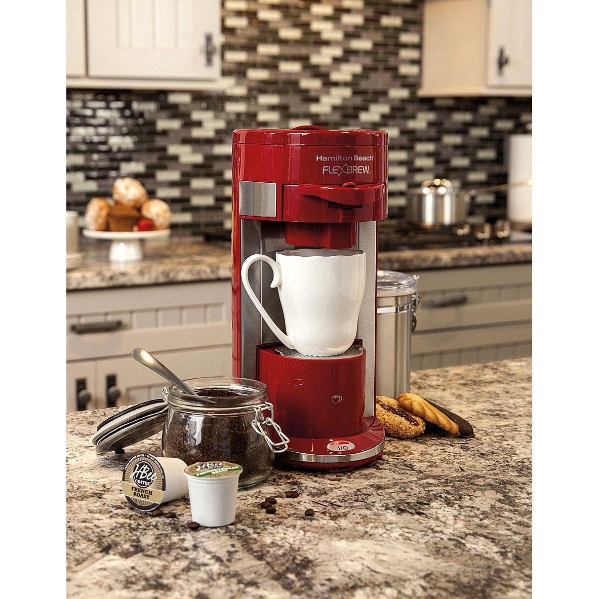 Hamilton Beach Red Programmable Singleserve Coffee Maker with 10 oz