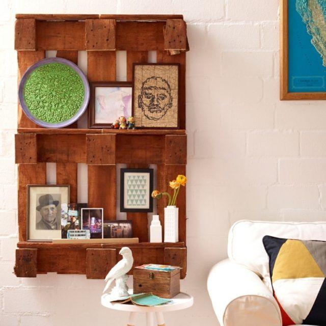 Diy estanter a con palets muebles con palets pinterest - Estanterias con palet ...