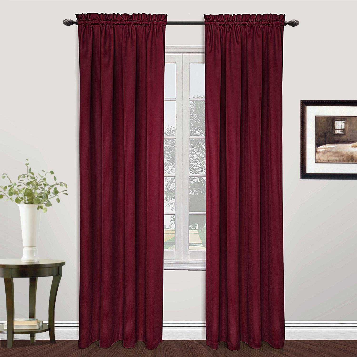 United Metro Curtain Panels 84 Navy Blue Size 54 x 84 Polyester
