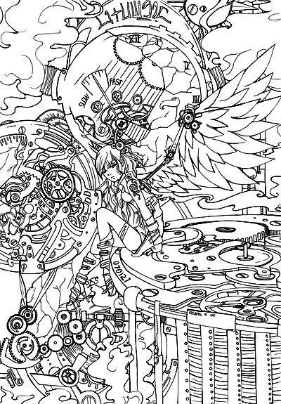 Adult Coloring Pages Steampunk