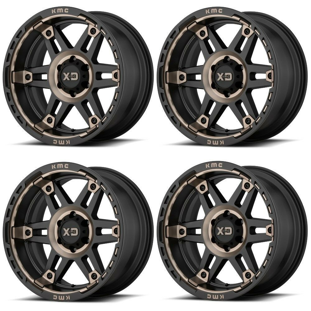 "Set 4 20"" XD Series Spy 2 XD840 20x9 5x5 0mm Satin Black"