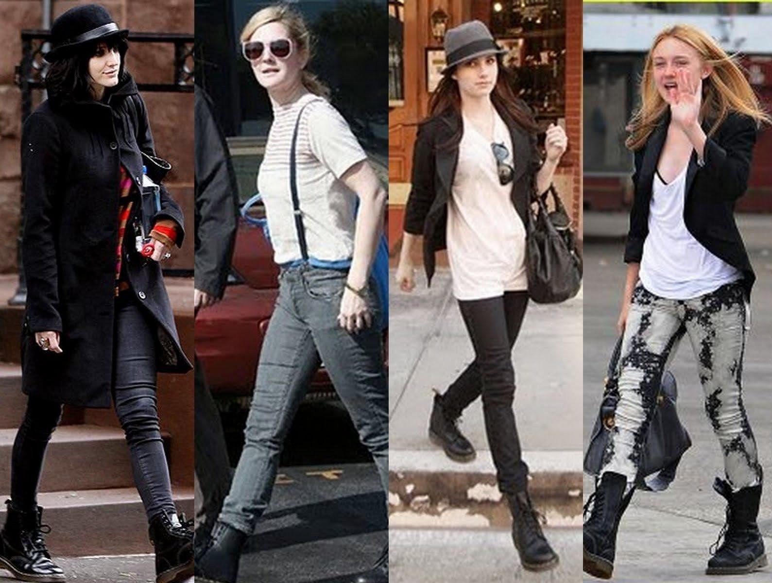 Ashlee Simpson, Drew Barrymore, Dakota Fanning wearing Dr. Martens ...