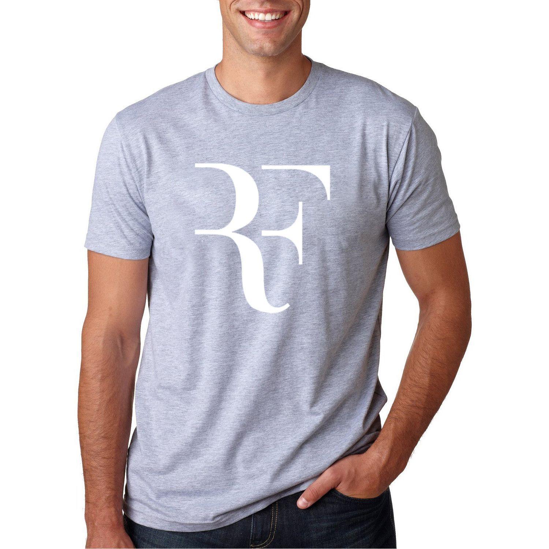 Summer Fashion Letter Printed T shirt 2017 Men's Roger Federer Fitness T-shirt Homme Streetwear Hip Hop cotton Tops Tee camiseta
