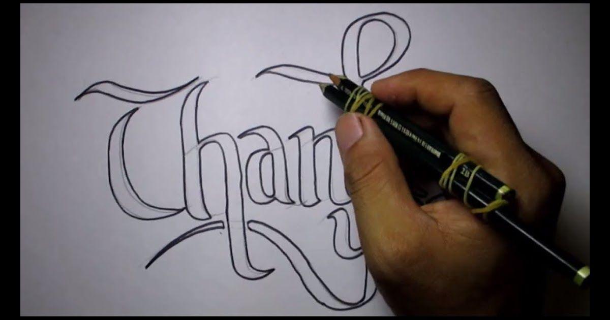 Foto Gambar Tulisan Di Kertas Cara Membuat Tulisan Keren Dengan 2 Pensil Source Www Youtube Com 30 Gambar Tulisan Graf Gambar Grafit Gambar Bibir Grafiti