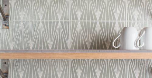 Piastrella da cucina a muro in ceramica lucidata isosceles