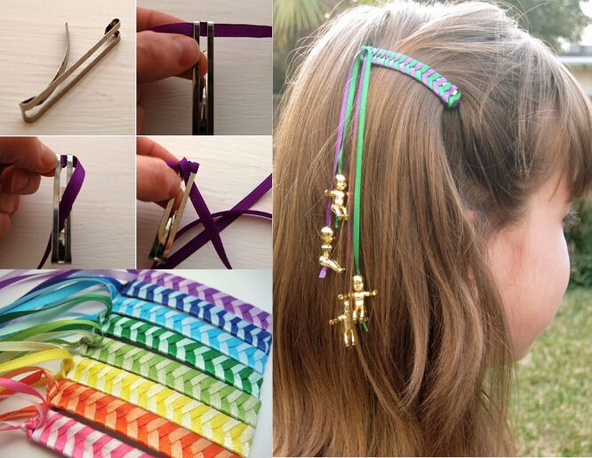 DIY Kids Hair Accessories #kidshairaccessories